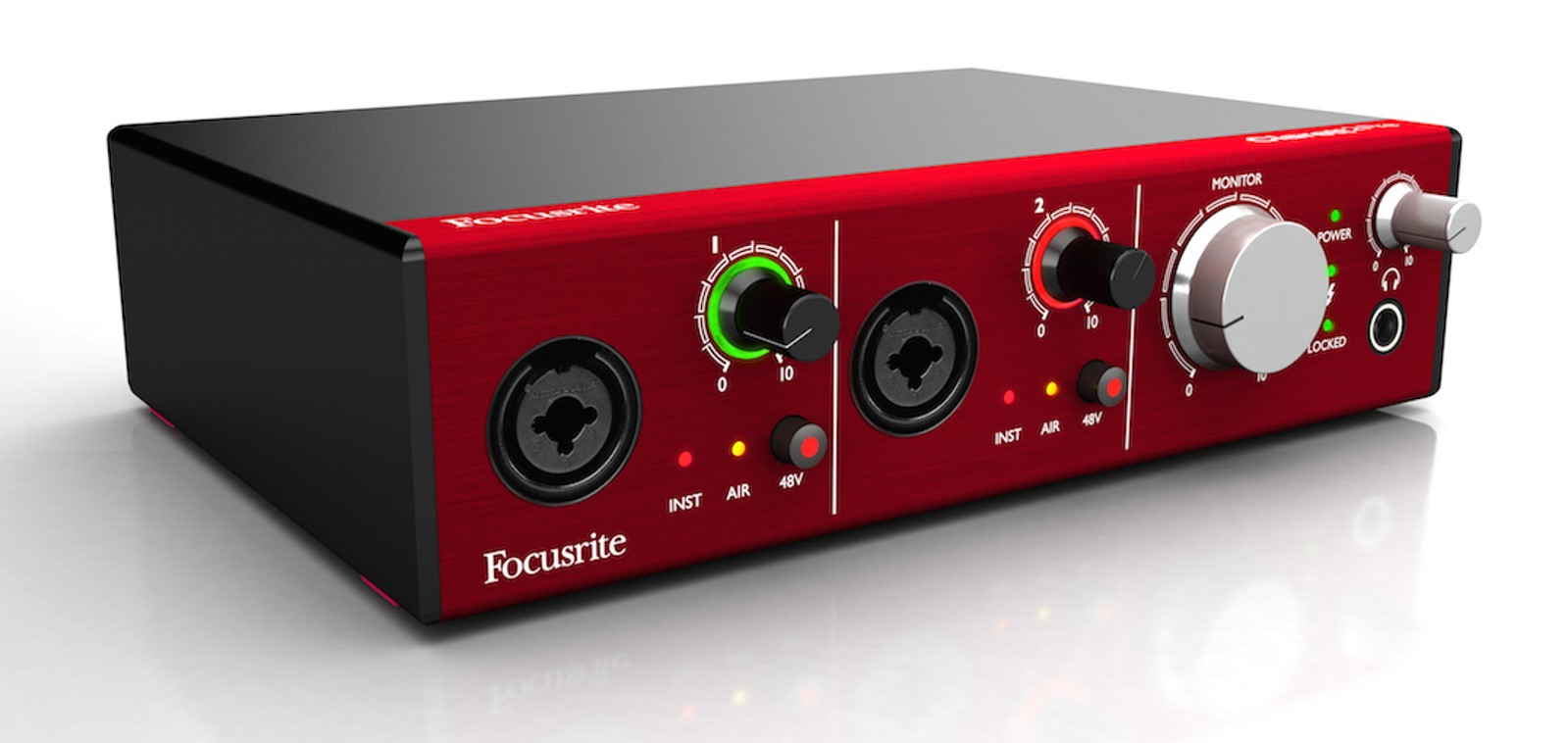 Focusrite Clarett 2Pre, thunderbolt interface